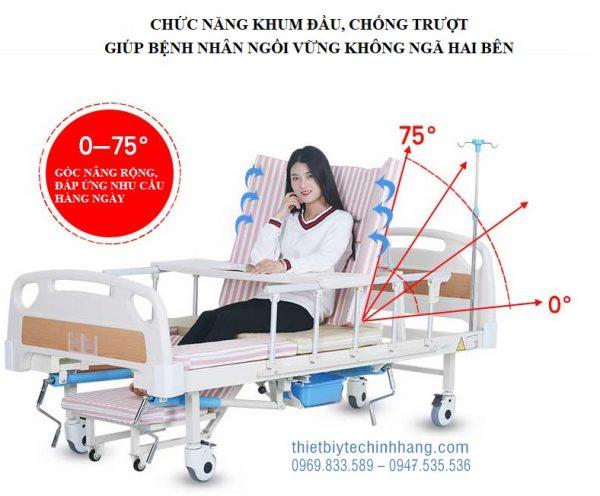 Giường Bệnh 4 Tay Quay TG-BC07